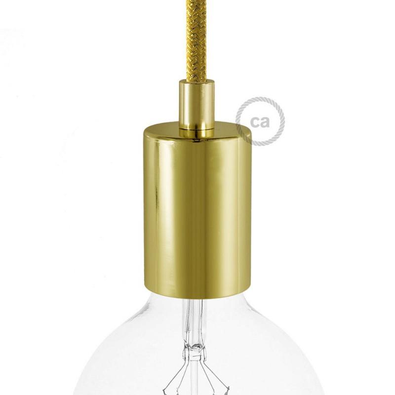 Cylindrical metal E27 lamp holder kit
