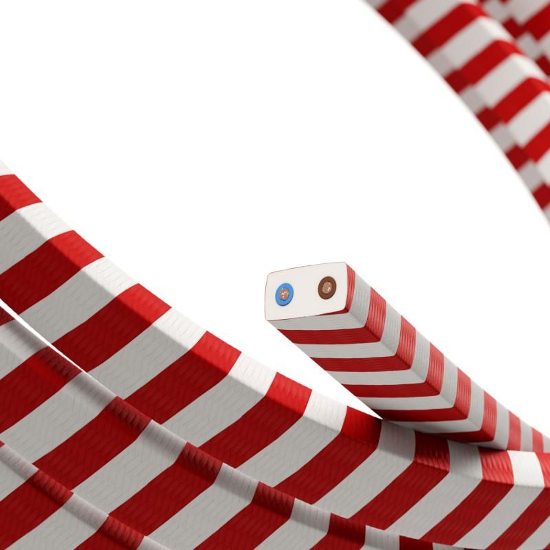 Electric cable for String Lights Vertigo HD, covered by Candy Cane fabric ECM39