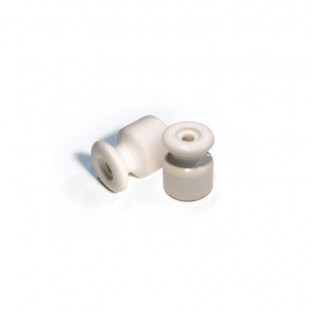 Porcelain insulator for wall wiring, 18mm