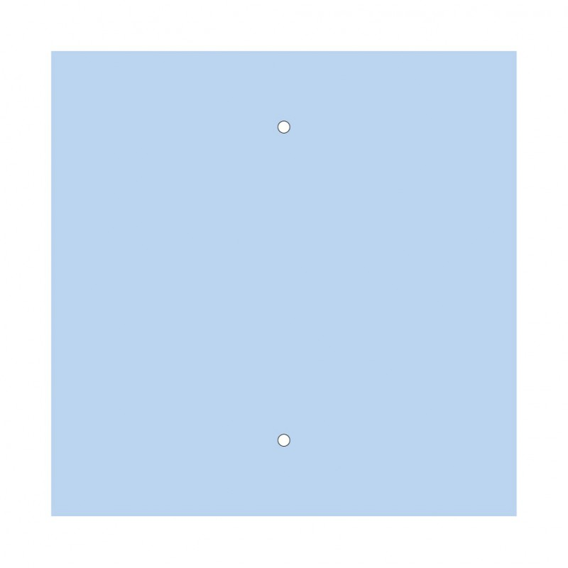 Square XXL Rose-One 2-hole and 4 side holes ceiling rose, 400 mm