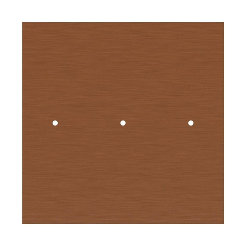Square XXL Rose-One 3 in-line holes and 4 side holes ceiling rose, 400 mm