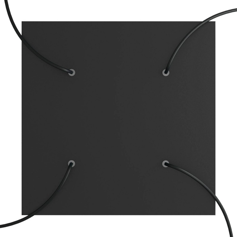 Square XXL Rose-One 4-hole and 4 side holes ceiling rose, 400 mm
