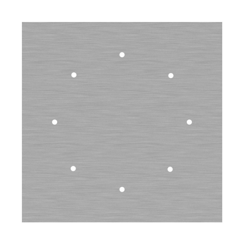 Square XXL Rose-One 8-hole and 4 side holes ceiling rose, 400 mm