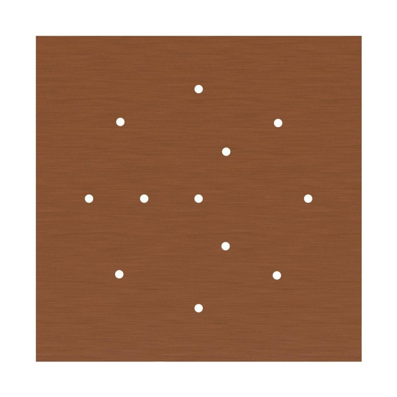 Square XXL Rose-One 12-hole and 4 side holes ceiling rose, 400 mm