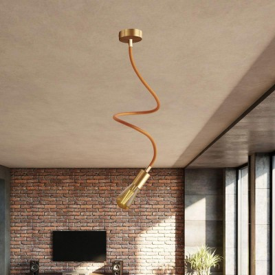 Kit Creative Flex flexible tube covered in Copper RM74 fabric with metal terminals